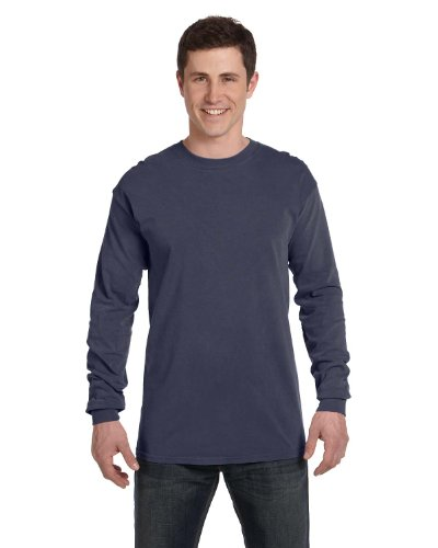 Comfort Colors Ringspun Garment-Dyed Long-Sleeve T-Shirt, Large, DENIM Comfort Colors 100% Garment