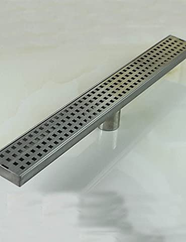 BL@ 600mm Stainless Steel Nickel Bathroom Kitchen Linear Shower Square Floor Drain
