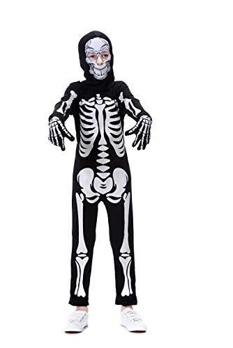 """YOLSUN Skeleton Costume for Kids, Glow in The Dark, Halloween Fearsome Costume (7-9-(Suggested Height:50""""-53"""")) -"""