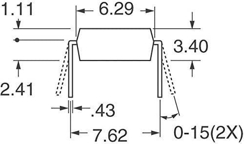 MOSFET P-CH 50V 1.1A 4-DIP Pack of 30 IRFD9010PBF