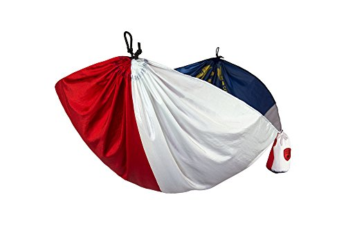 Grand Trunk Flag Series Single Parachute Nylon Hammock, North Carolina: Portable with Carabiners and Haning Kit - Perfect for Outdoor Adventures, Backpacking, and Festivals by Grand Trunk