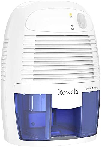 Kowela Electric Mini Dehumidifier, Quiet dehumidifier for Home 2201 Cubic Feet Compact Portable Small Dehumidifiers for Home Bathroom Kitchen Bedroom Basement Caravan Office Garage