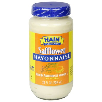 Hain Pure Foods Safflower Mayonnaise 24 Oz (Pack of 6)