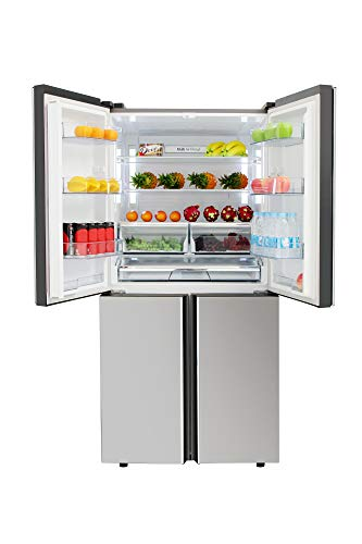 Thor Kitchen Refrigerator, 36-inch French 4-door 8.38 cu.ft Freezer and 14.2 cu.ft Fridge Counter Depth Refrigerator with Ice Maker, Stainless Steel - HRF3603F