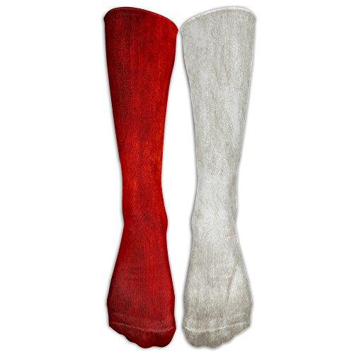 LBLOGITECH Canada Flag.jpg Long Novelty Calf High Athletic Sock Outdoor (Halloween Candy Jpg)