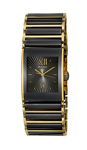 Rado Integral Black Ceramic & Gold PVD Coated Steel Mens Watch Calendar R20787172