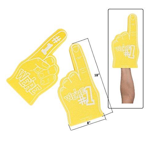 (School Spirit Yellow Foam Hands (8