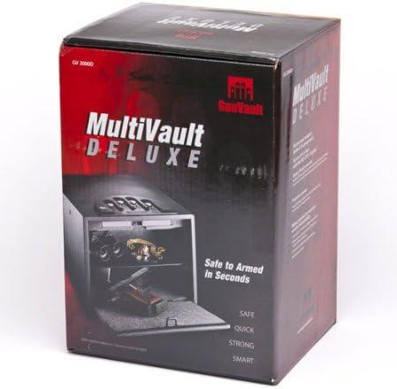 "B000H6AL7O GunVault Deluxe Multi Vault Safe, 14"" x 10"" x 8"", Black 41LckGJouHL."