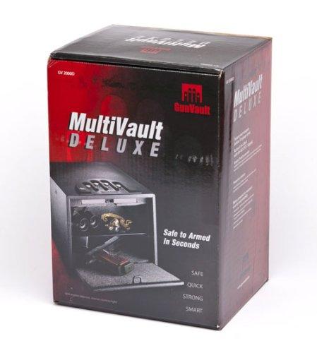 GunVault Multivault Deluxe Digital Pistol Safe GV2000C-DLX