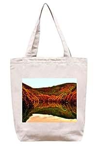 Otoño - lago de lona del algodón bolso de mano