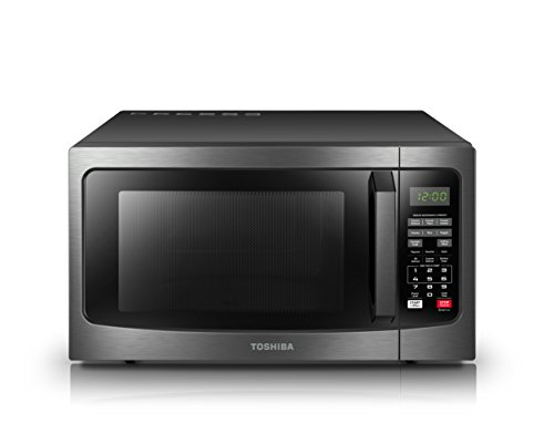 Toshiba em131a5c bs microwave oven with smart sensor easy - Stainless steel microwave interior ...