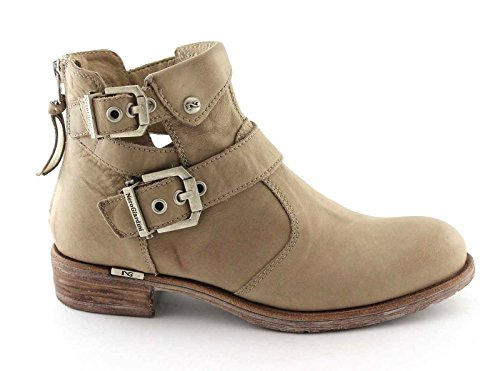 Shoes Boots Zip Bikers Woman 15211 Beige Taupe Nero Giardini Gardens Black wTXAY7Y