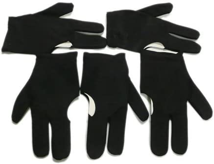 5 Black Billiards Pool Snooker Cue Shooters 3 Fingers Gloves