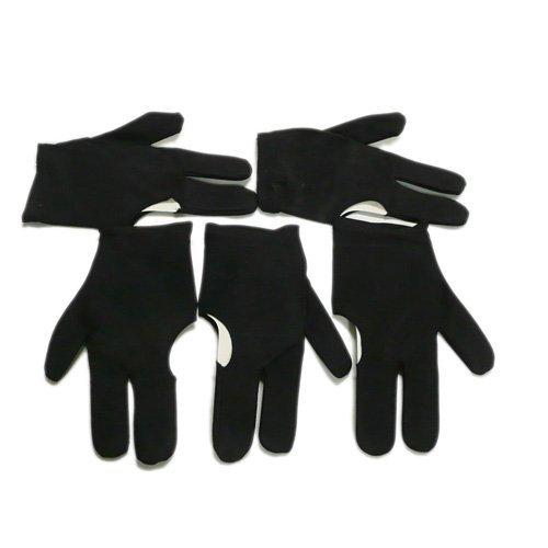 SODIAL(TM) 5 x Guantes de 3 Dedos para Taco Billar Snooker, Negro ...
