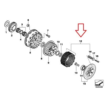 Amazon.com: BMW Genuine Clutch Disks & Springs F700GS F800S F800ST F650GS F800GS F800R: Automotive