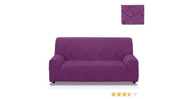 JM Textil Funda para sofá elástica Mercurio Tamaño 4 plazas (de 205 a 235 Cm.) en Color Malva