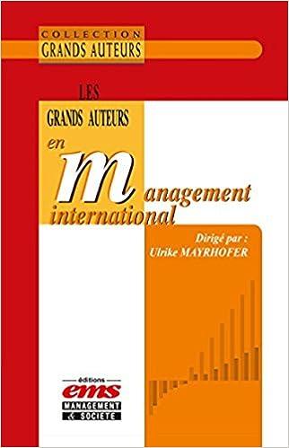 Téléchargement Les grands auteurs en management international epub, pdf