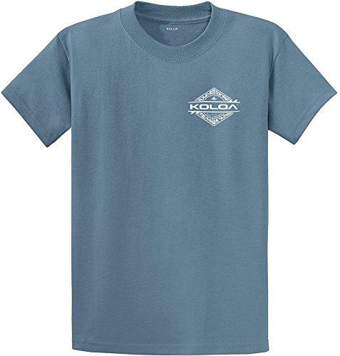 (Koloa Surf Tall Diamond Thruster Surfboards Heavyweight Cotton T-Shirt-StoneBlue/w-2XLT)