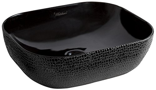 Whitehaus-Collection-WH71333-F04-Isabella-Plus-Collection-Rectangular-above-Mount-Basin-with-an-Embossed-Exterior-Smooth-Interior-and-Center-Drain-Black
