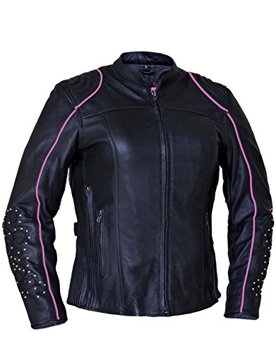 Unik International Ladies Premium Motorcycle Jacket with Angel Wing Design Medium from Unik International