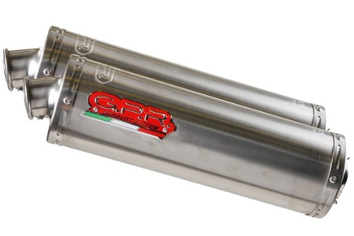 - Ducati 748 916 996 GPR Exhaust Systems Oval Stainless Dual Slipon Mufflers Road Legal With DB Killers & Link Pipe