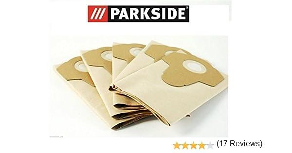 Parkside PNTS 1300 B2 LIDL IAN 69502 - Bolsas para aspiradoras en seco y mojado (20 L, 5 unidades): Amazon.es: Hogar