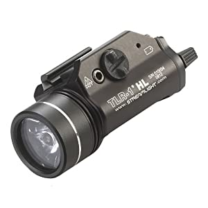 Streamlight 69260 TLR-1 HL Weapon Mount Tactical Flashlight Light 800 Lumens with Strobe - 800 Lumens