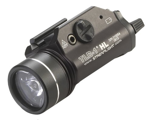 Streamlight 69260 TLR-1 HL Weapon Mount Tactical Flashlight Light 800 Lumens with Strobe - Flashlight Never Needs Batteries