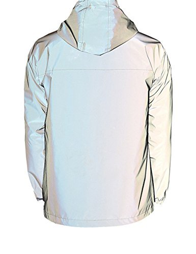 Women's Fully Reflective Jacket 3M Cycling Jacket (Asian L=US M, Grey) (Jacket Reflective Coat)