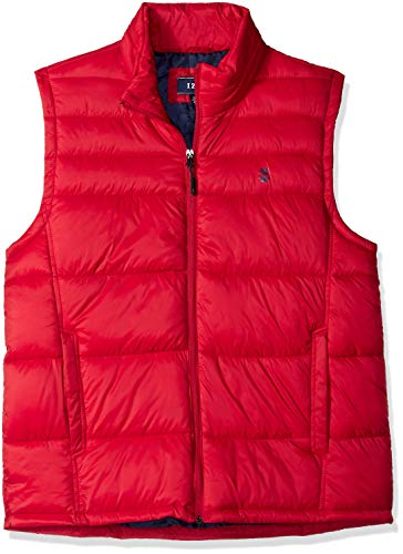 IZOD Men's Advantage Performance Puffer Vest, New Real red, X-Large