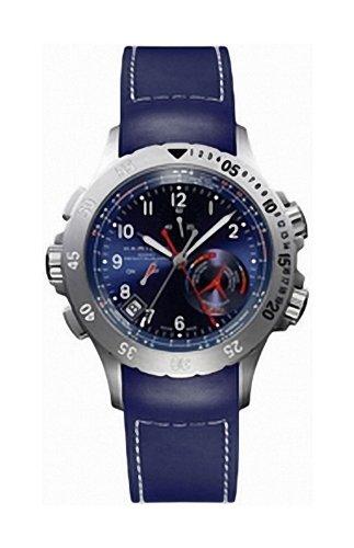Hamilton Khaki Navy Regatta H77614343 - Reloj de Caballero de Cuarzo, Correa de Caucho Color Azul Claro: Amazon.es: Relojes