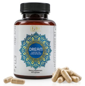 Dream Sleep Aid Supplement, 60 Capsules: All Natural Herbal Nighttime Sleeping Formula, 17 Ingredients with Melatonin, Magnesium & B6 Support: Vegan, Non-GMO, Gluten Free, Made in (Proprietary Herbal Formula)