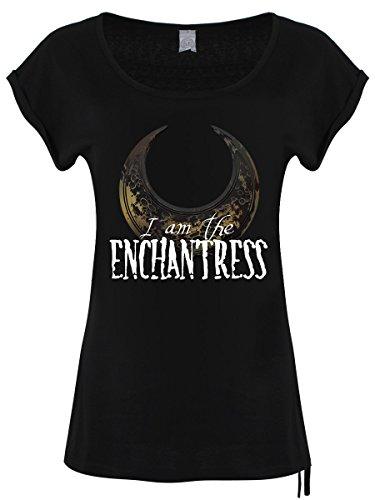 Lässiges Damen T-Shirt I Am The Enchantress, schwarz
