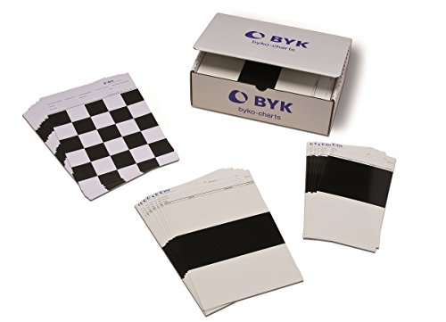 Box of 500 Clearcoated BYK-Gardner 2858 Byko-Chart Brushout WDX Drawdown Card