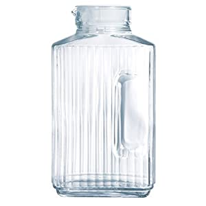 Luminarc Quadro 2-Liter Glass Pitcher with Lid