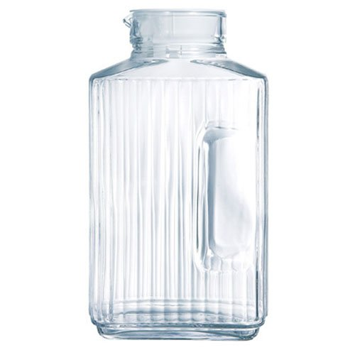 - Luminarc Quadro 2-Liter Glass Pitcher with Lid