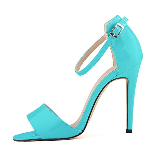 Elegance Skyblue Pump Donna Stiletto Toe Da Peep Dress Sandali Hooh dYqxzBTwOd