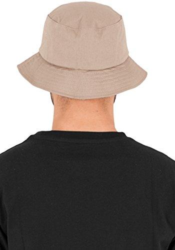 Hat Beige caqui Flexfit Cotton Bucket Sarga Mütze AwqxIUIX0