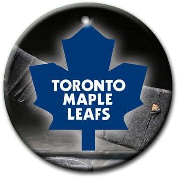 Amazon Com Maple Leafs Hockey Ornament Round Porcelain Christmas Great Gift Idea Toronto Home Kitchen