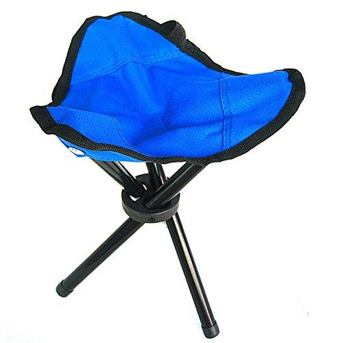 Samll Folding Tripod Stool Portable 3 Legs Chair for Camping Fishing Beach Travel Parks Gardening (Blue, - Lb 200 Tripod