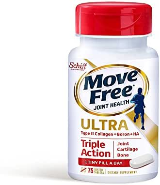 Move Free Ultra Triple Action Joint Supplement with Type II Collagen, Hyaluronic Acid, and Boron for Joint, Cartilage, and Bone Support, FAMILY PACK OF 150 tablets