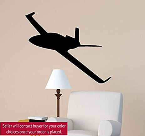 Office Wall Jet Decal Sport Aviation Pilot Room Sticker Aircraft Aviation  Decor College Dorm Teen Boy