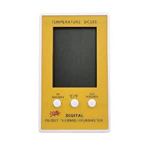 Digital Thermometer Hygrometer for Indoor and Outdoor Yellow