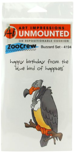 Art Impressions 4194 Zoo Crew Series ''Buzzard Set'' Rubber Stamp by Art Impressions
