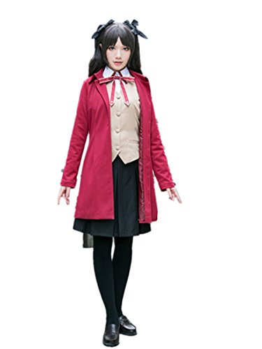 Love Fate/Stay Night Cosplay Costume-Tohsaka Rin Archer Long Red Coat - Tohsaka Rin Costume