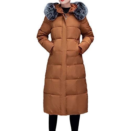 (Sannysis Winter Coats for Women, Women Winter Warm Coat Faux Fur Hooded Thick Warm Slim Jacket Long)