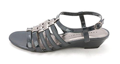 Karen Scott Womens Jessaa Open Toe T-Strap Wedge Pumps Black wNkiWXk