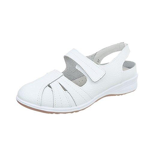 Ital Zapatos de Design para mujer 5011 Zapatos Weiß Plataforma Cuñas tacon x6w01OnBq