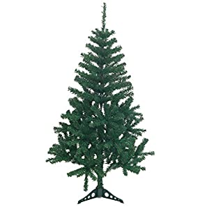 Holiday Essence 4 Foot Green Artificial Christmas Tree - 300 Tips - with PVC Base - Unlit 45
