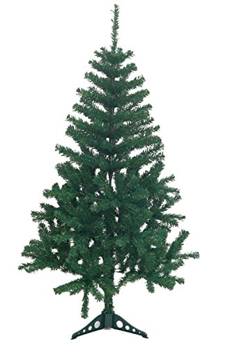 Holiday Essence 4 Foot Green Artificial Christmas Tree - 300 Tips - with PVC Base - Unlit (Best Christmas Trees For Allergies)